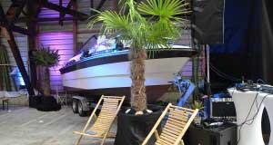 DJ Pult im Porto Lago am Zürichsee auf einem Schiff