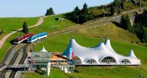 Das Piz Event an der Bahnstation Rigi Staffel
