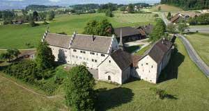 Ansicht von oben des Ritterhaus im Zürcher Oberland